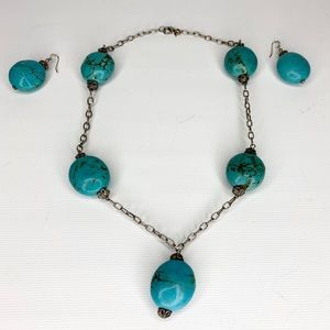 HDNY Henry Designs Faux Turquoise Necklace Earring